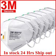 3M 9001V maska Anti-PM2 5 cząstek stałych pracy Respirator pył z chłodnym zaworem przepływu oddychające 3M 9002V maski na twarz w magazynie tanie tanio KN90 Chin kontynentalnych GB2626-2006 9001v 9002v NONE