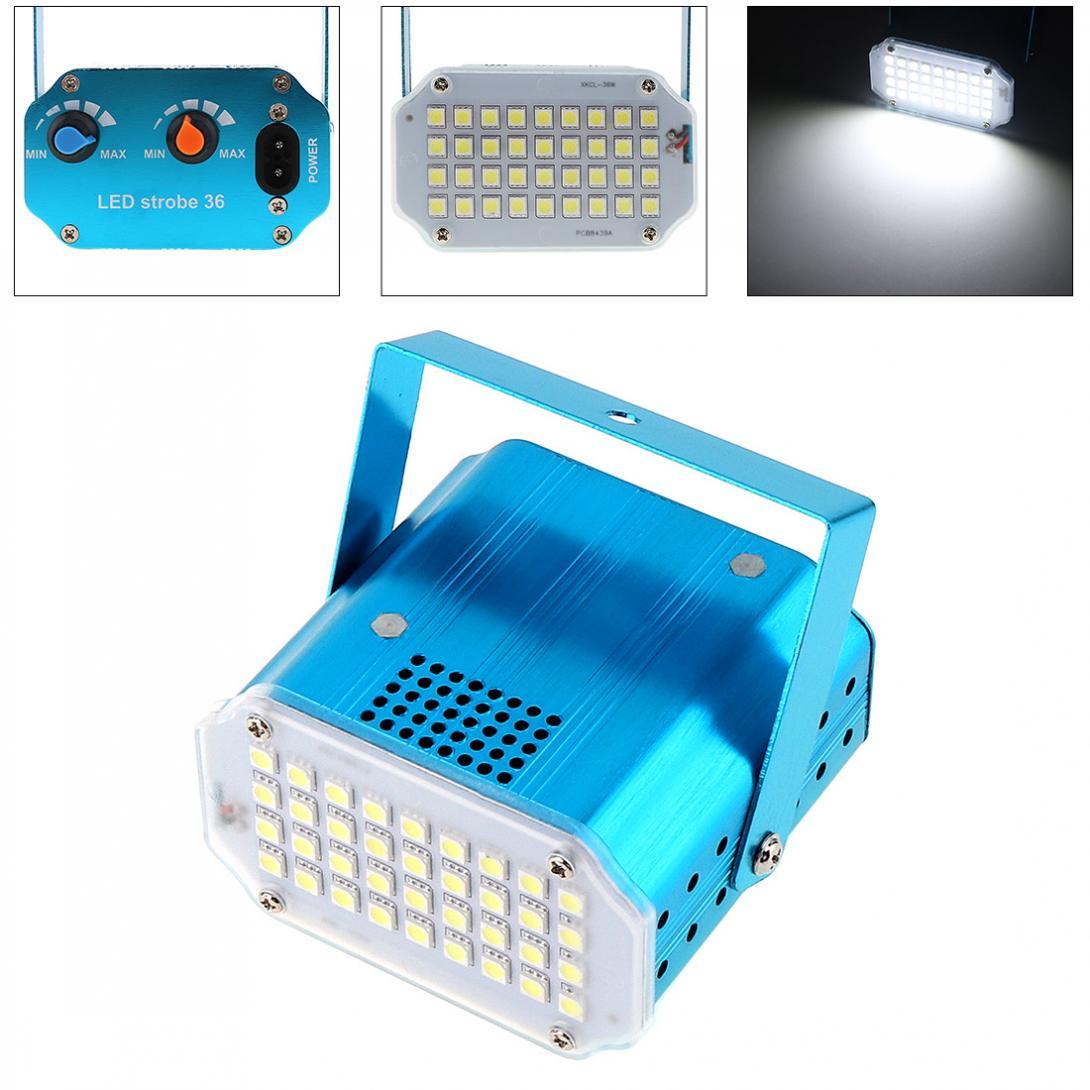 36 LED Mini KTV Stage Light Lamp Stroboscope Flash Lamp W/ Sensitivity Frequency Adjustment For Disco Party KTV Club DJ Bar
