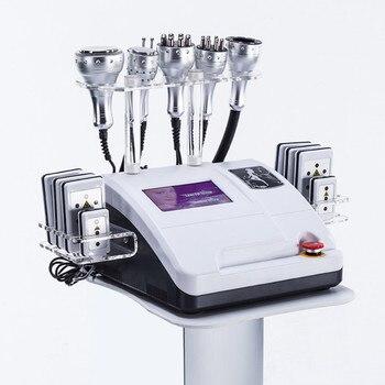 2019 Newest 8 in 1 hot sales 40K cavitation + Vacuum Cavitation System ultrasound tripolar sixpolar body slimming machine