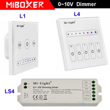 Miboxer L1 L4 1CH 4 CH 0 ~ 10V LED Touch Panel Dimmer LS4 0/1 ~ 10V Dimming driver Controller untuk Satu Warna LED Strip Lampu(China)
