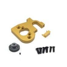 Rc suporte de montagem do motor carro com engrenagem do motor para wltoys 144001 124019 124018 rc peças reposição acessórios atualização