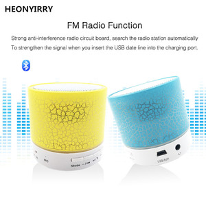 Mini Portable FM Radio with Speaker LED Digital Support SD/TF Card U Disk for PC/MP3/4/Mobile/Tablets