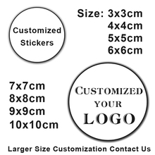 100PCS 3-10cm Custom LOGO Wedding Sticker Personalized Design Your Label Candy Gift Box Birthday Party Seal Self-adhesiv