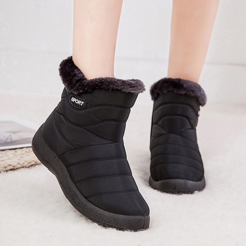 2019 Winter Women Shoes Waterproof Ankle Boots Plush Warm Shoes Woman Trainers Shoes Rubber Boots For Women Chaussure Femme 24