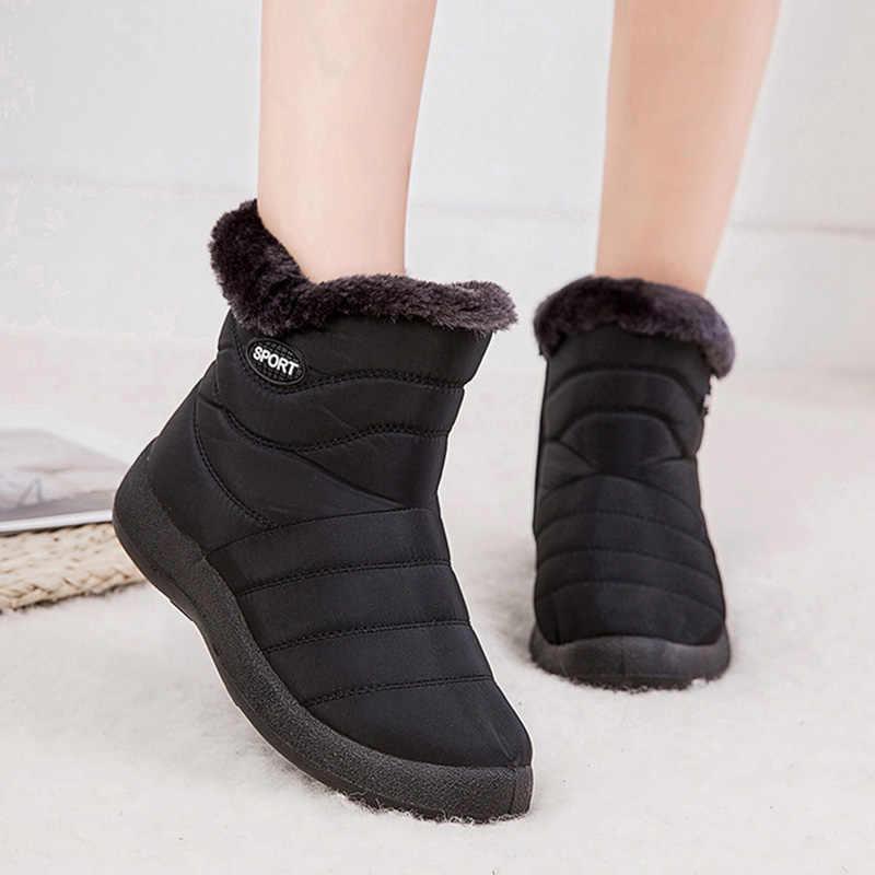2019 ผู้หญิงฤดูหนาวรองเท้ากันน้ำข้อเท้ารองเท้าอุ่นรองเท้าผู้หญิงรองเท้ากีฬารองเท้าสำหรับรองเท้าผู้หญิง Chaussure Femme