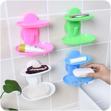 Double layer soap box kitchen tools bathroom accessories dish wall mounted new