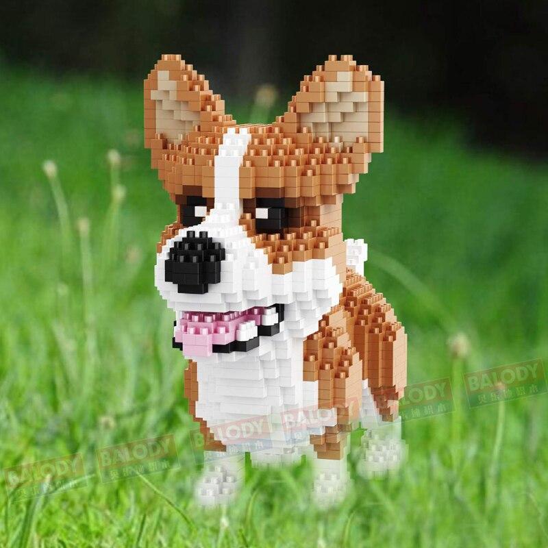Balody Pembroke Welsh Corgi Dog Animal Pet Diamond Mini Building Nano Block Toy