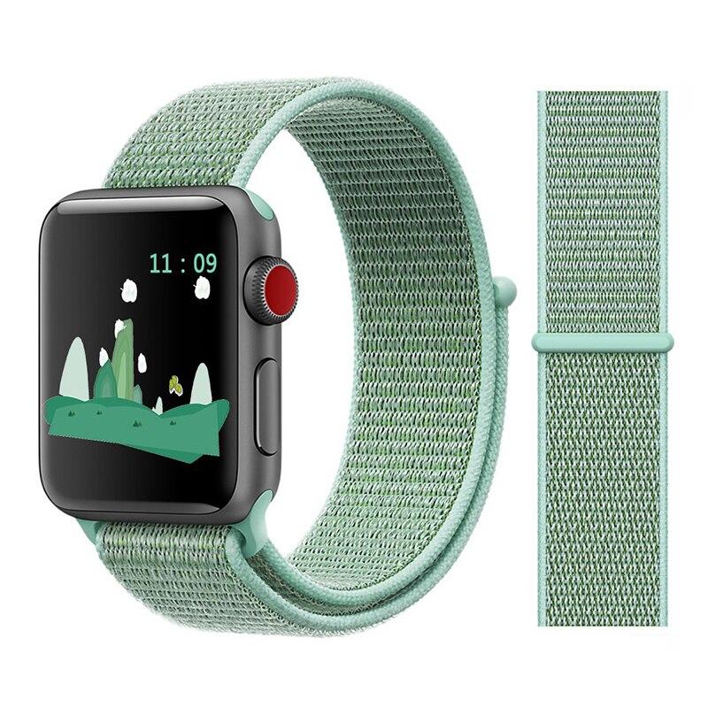Для наручных часов Apple Watch, версии 3/2/1 38 мм 42 мм нейлон мягкий дышащий нейлон для наручных часов iWatch, сменный ремешок спортивный бесшовный series4/5 40 мм 44 мм - Цвет ремешка: Color16 marine green