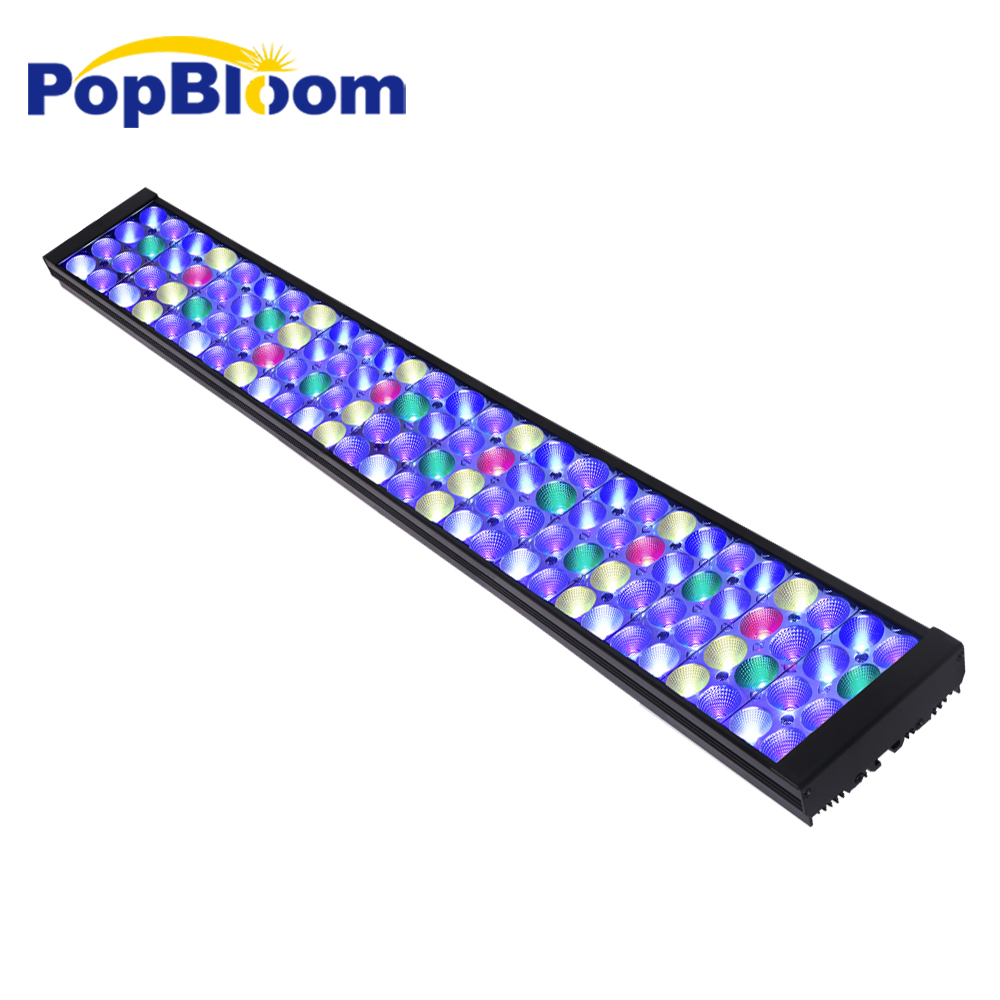 PopBloom Aquarium Led Lighting Aquarium Light Lamp For Marine Coral Reef led light Saltwater With Smart Controller Turing75