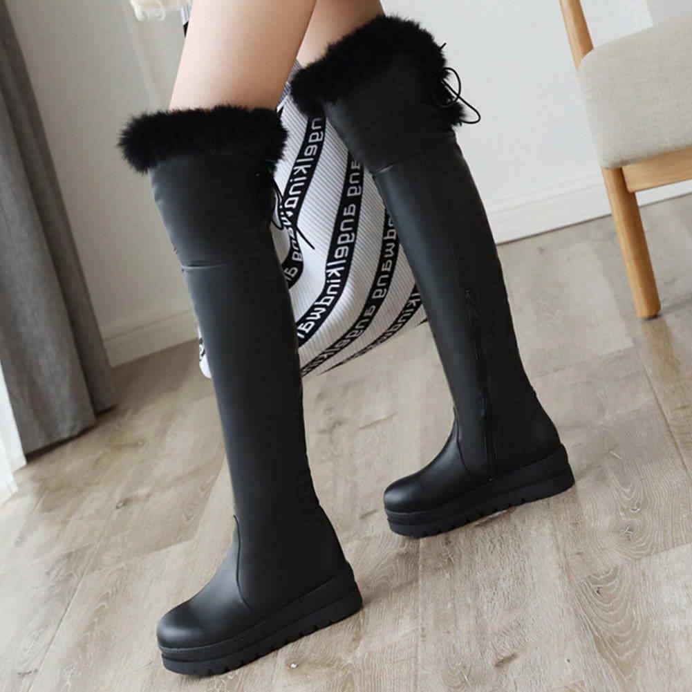 Karinluna 2019 Big Size 43 Rusland winter warm bont Schoenen Vrouw snowboots Vrouwelijke Schoenen waterdichte Laarzen Vrouwen schoenen