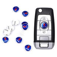 10 pçs carro metal logotipo 3d chave de controle remoto escudo 14mm decoração decalques para saab 9-3 9-5 93 9000 900 9-7 600 99 9-x turbo acessório