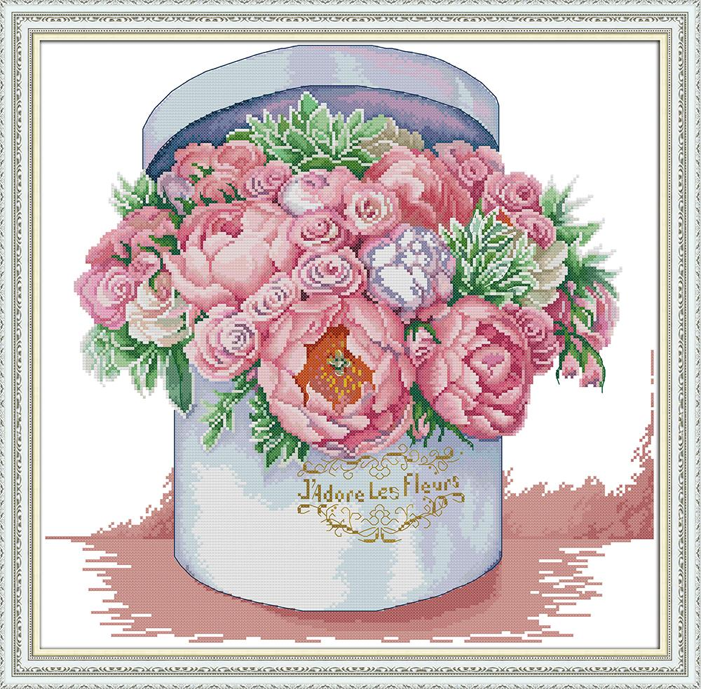Send You Aromatic Cross Stitch Kit Aida 14ct 11ct Count Print Canvas Stitches Embroidery DIY Handmade H763