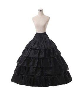 Image 2 - Wit 4 Hoop Wedding Baljurk Crinoline Bridal Petticoat Rok Onderrok