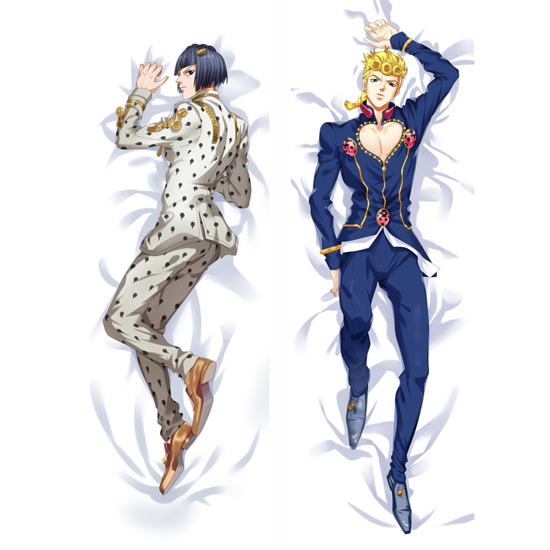 Anime JoJo's Bizarre Adventure Giorno Giovanna Joseph Joestar Kujo Jotaro Coplay Dakimakura Body Pillow Case Cover