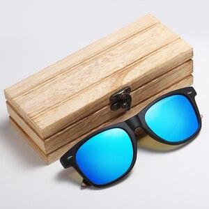 Image 3 - GM marka ceviz ahşap polarize erkek güneş gözlüğü kare çerçeve güneş gözlüğü kadın güneş gözlüğü erkek Oculos de sol Masculino S7061h