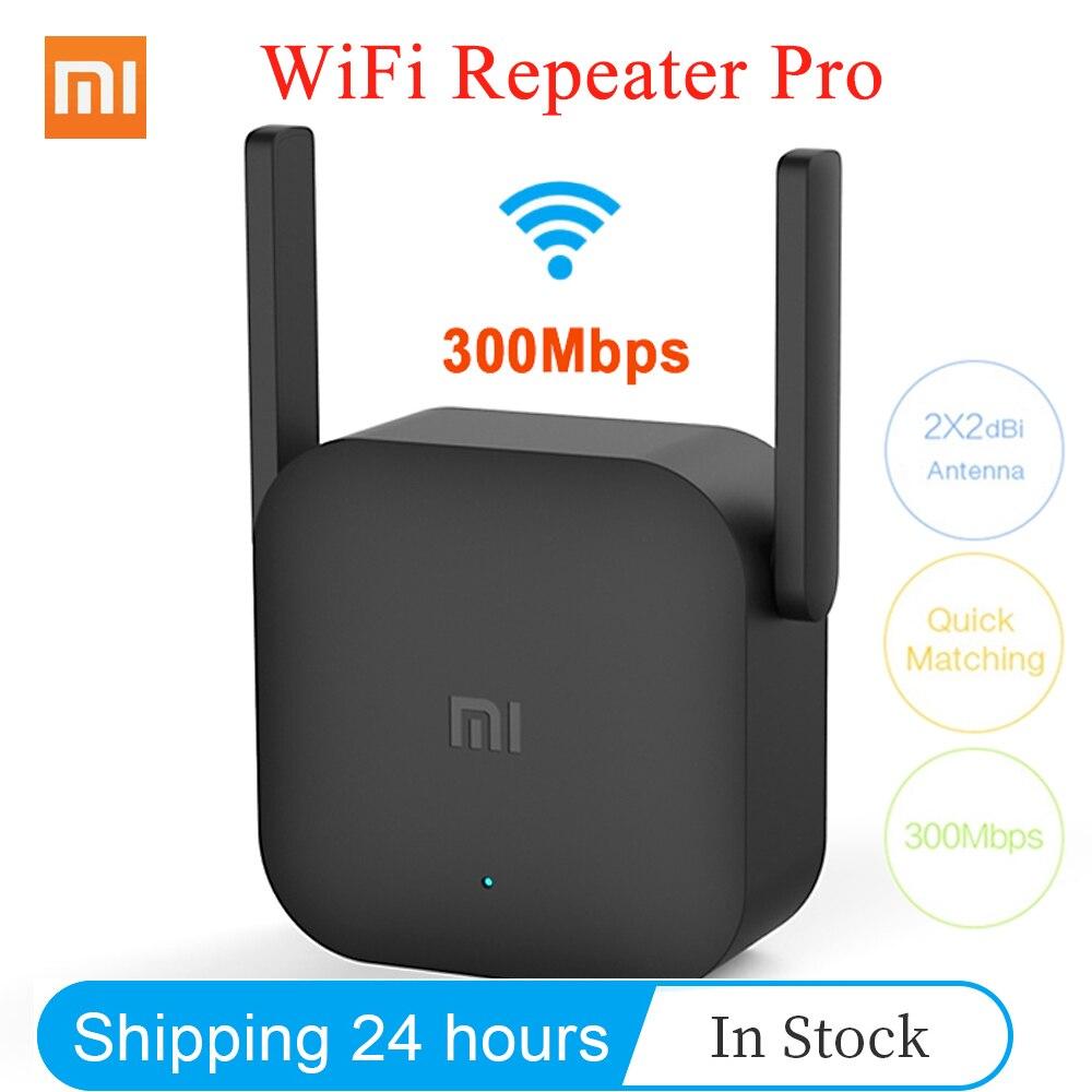 Оригинальный Xiaomi Wi-Fi ретранслятор Pro 300 Мбит/с Mi усилитель сети расширитель маршрутизатор расширитель Roteador 2 антенны для беспроводной маршру...
