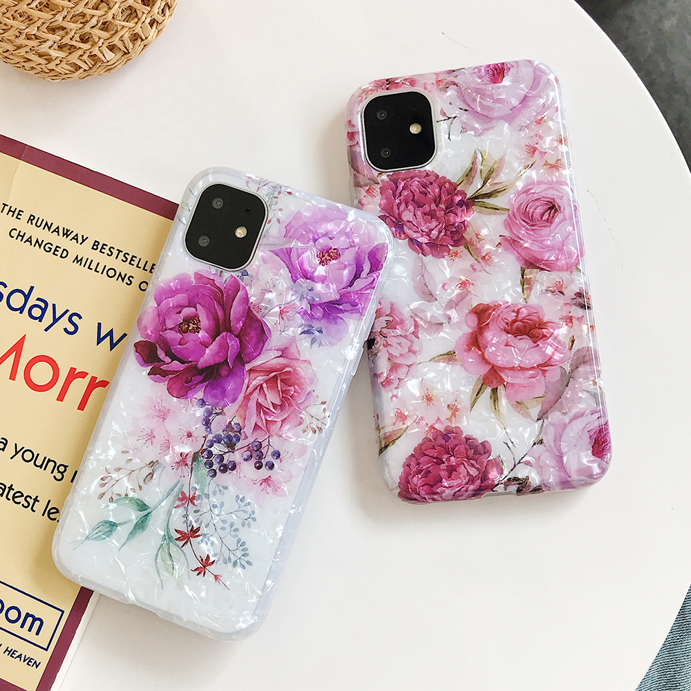 LOVECOM Retro Floral Ring Stand Phone Case For iPhone Models 17