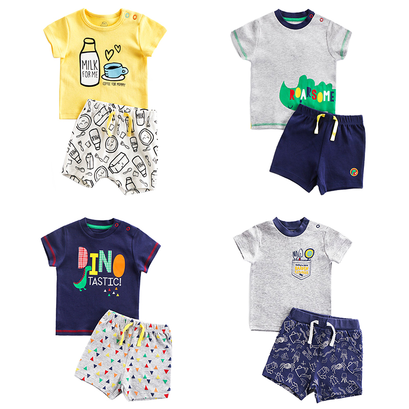 Brand Cotton Baby Sets Leisure Fashion Summer Clothes Boy T-shirt + Shorts Sets Toddler Clothing Baby Boy Clothes Newborn 1