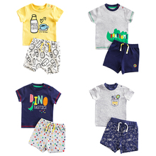 Summer Infant Newborn Baby Boy Clothes Children Clothing Set for Girls Kids T-Shirt Shorts 2PCS Outfits Cotton Casual Clothes