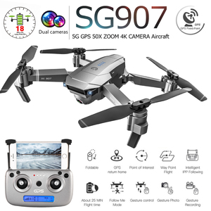 SG907 SG901 5G GPS Foldable Profissional Drone with Dual Camera 1080P 4K WiFi FPV Wide Angle RC Quadcopter Helicopter Toy E502S(China)