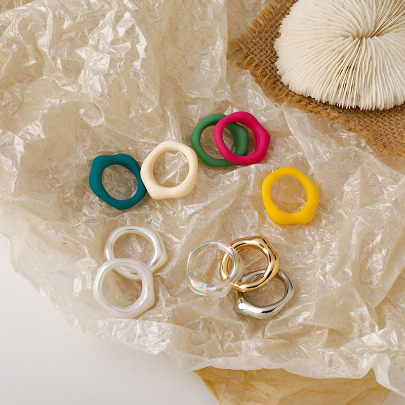 Acrylic Transparent Resin Colorful Rings