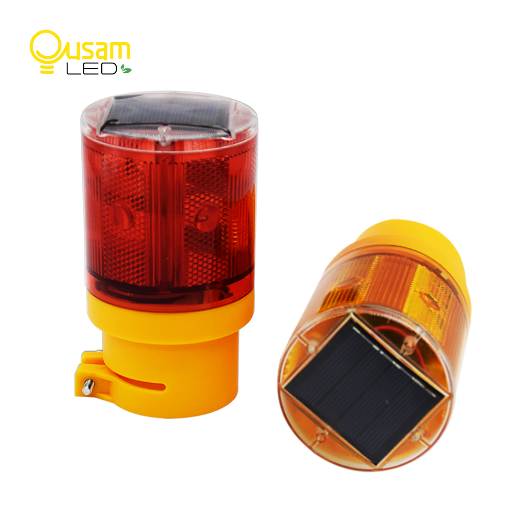 Emergency Light Auto Solar Light Flash 6LED Bulb With Battery Traffic PoliceLight Solar For Harbor Road Emergency Lighting