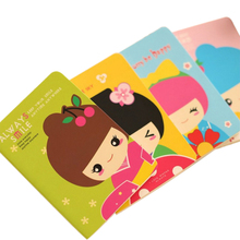 1pcs/lot kawaii Cartoon Doll Small Notebook Paper Book Diary Sketchbook Stationery School Offices Supplies 1pcs lot small green tree series small coil diary notebook stationery sketchbook school offices supplies
