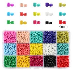 15 Colors Glass Beads Set Elas