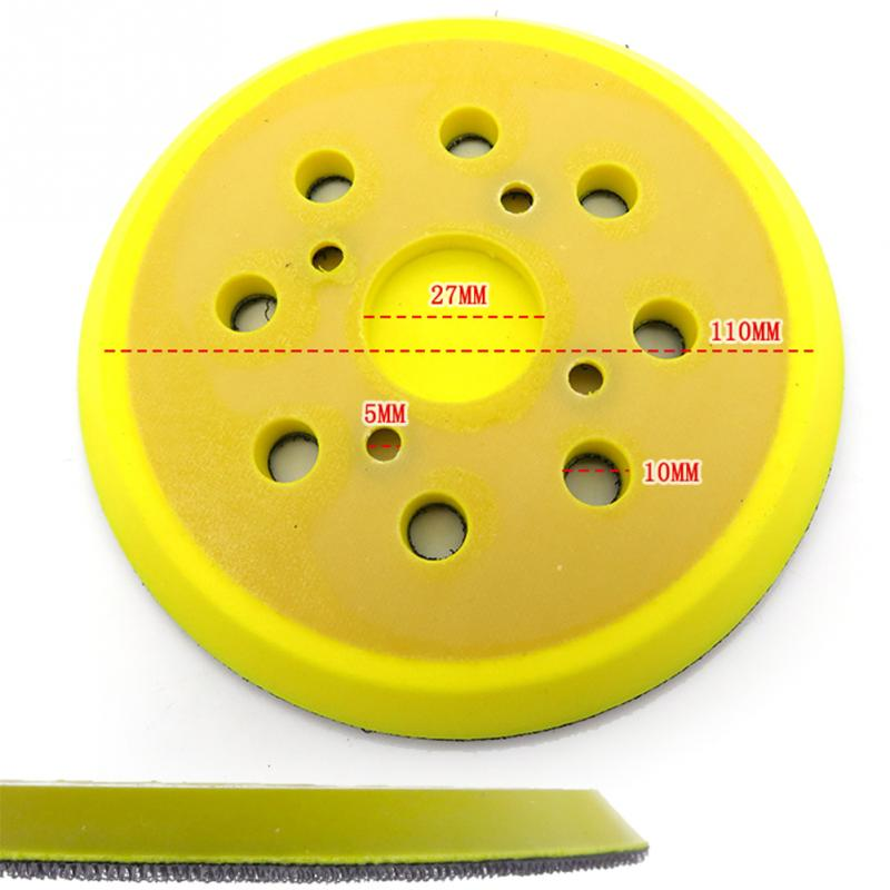 Image 2 - 125mm 8 Hole For Electric Grinder Backing Polishing Self Adhesive Wear Resistance Sanding Disc Accessories Sandpaper Plate Pad-in Abrasive Tools from Tools