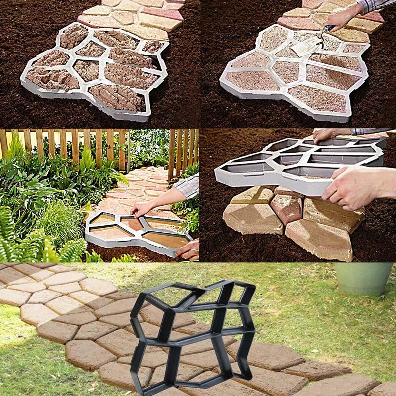 cheapest Tool Concrete Cement Outdoor Stepping Stone Manual Reusable Black Driveway Turtle Shape Paving Mold Garden Decor ABS Landscape