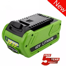 Lithium-Ion-Battery Greenworks Power-Batteries-Tool for 40V 29472/29462/G-max 6000 Ah