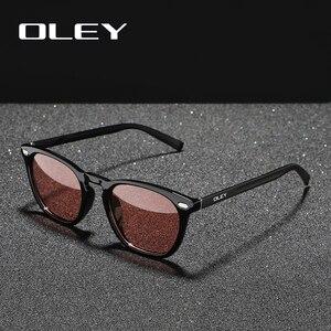 Женские поляризационные очки OLEY, классические круглые фотохромные очки в стиле ретро, с логотипом на заказ, Y0518