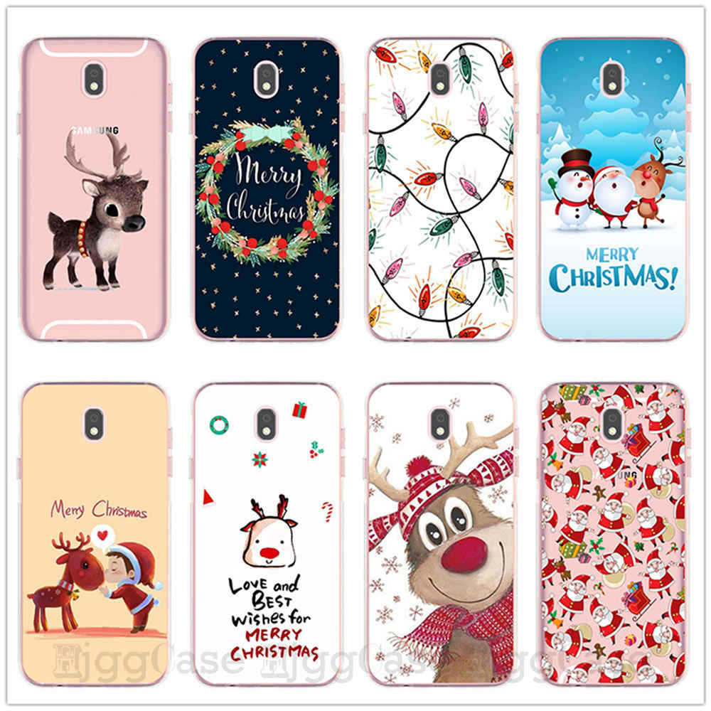 Christmas New year Gift phone case For Samsung Galaxy J3 J5 J7 2017 J3 J7 J8 J4 J6 2018 Plus Case silicone protection Cover