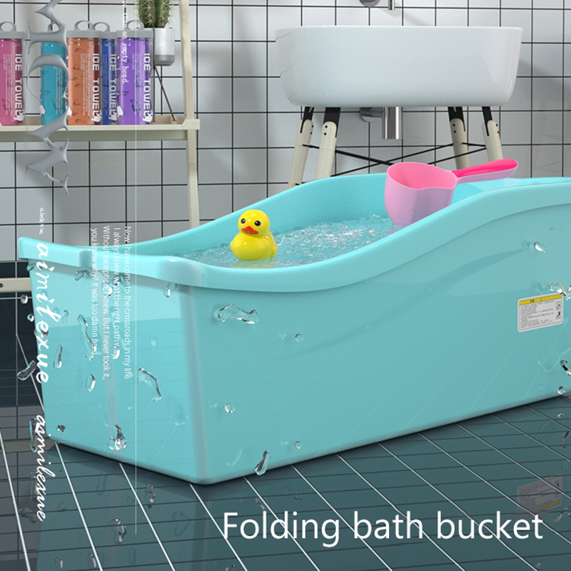 Baby Bath Tub Household Folding Tub Baby Baby Large Bath Tub Children Bath Tub Bath Barrel Tub Baby Can Sit Kids Bath Tub