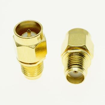 SMA Male To SMA Female Quick Push-On Directly Plug Cable Connector Socket SMA To SMA Brass Straight Coaxial RF Adapters 1pcs sma to sma connector straight rf coaxial cable sma male to sma male rg405 086 cable blue skin adapter