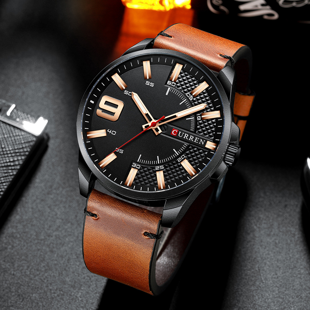 H9b2fafc56fa042cfb3aaa4bb48f486fdK Top Brand Luxury Business Watch Men CURREN Watches
