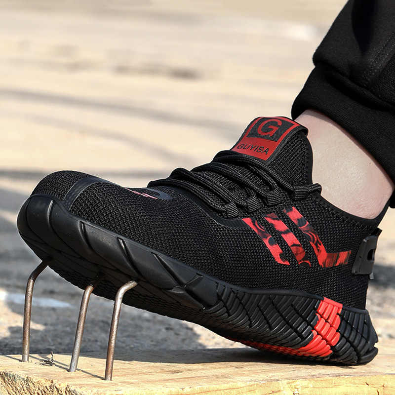 Atmungsaktive männer Sicherheit Schuhe Stiefel Mit Stahl Kappe Kappe Casual männer Stiefel Arbeit Unzerstörbar Schuhe Punktion-Beweis arbeit Turnschuhe
