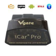 ماسح ضوئي لتشخيص السيارات Vgate iCar Pro مع بلوتوث 4.0 ، لنظام التشغيل iOS/Android ELM 327 V2.1 Bluetooth iCar Pro ELM327 OBD2