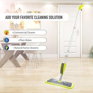 Image 4 - Magic Spray Mopชั้นไม้Reusableแผ่นไมโครไฟเบอร์360องศาบ้านWindowsห้องครัวMop Sweeperไม้กวาดเครื่องมือทำความสะอาด