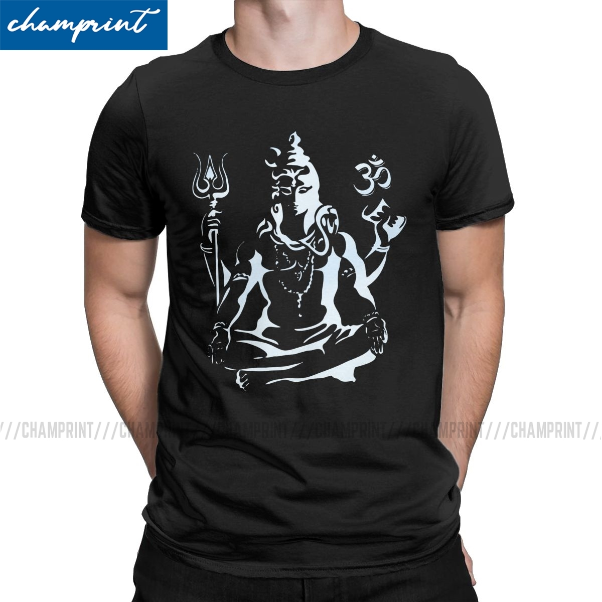 Lord Shiva T-<font><b>Shirts</b></font> for Men Hindu Ganesha <font><b>God</b></font> India Lingam Amazing Tee <font><b>Shirt</b></font> Crewneck Short Sleeve T <font><b>Shirt</b></font> 4XL 5XL Clothing image