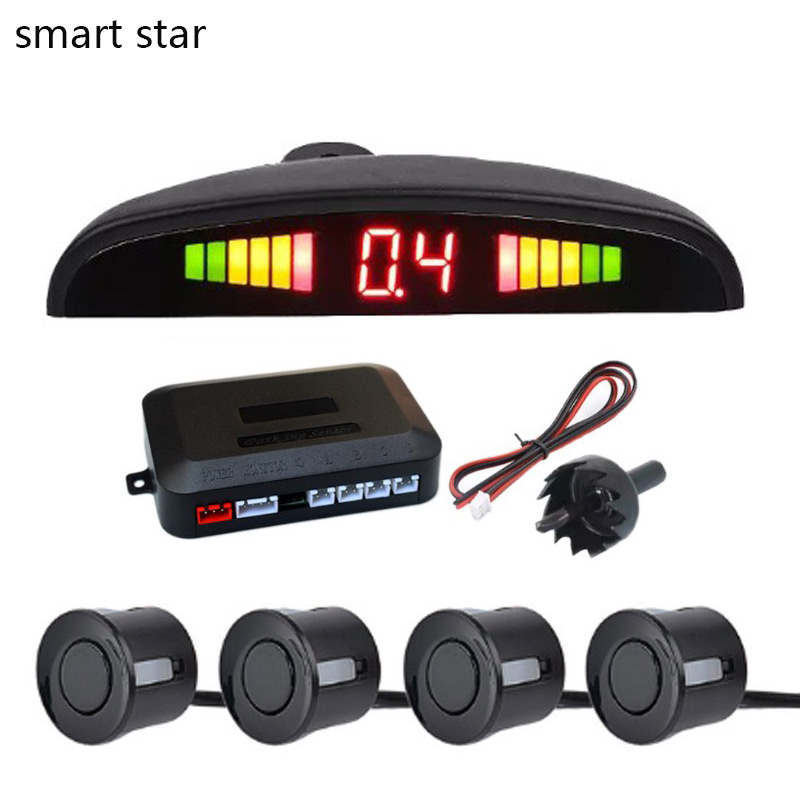 smart star Car Auto Parktronic LED Parking Sensor with 4 Sensors Reverse Backup Car Parking Radar Monitor Detector System
