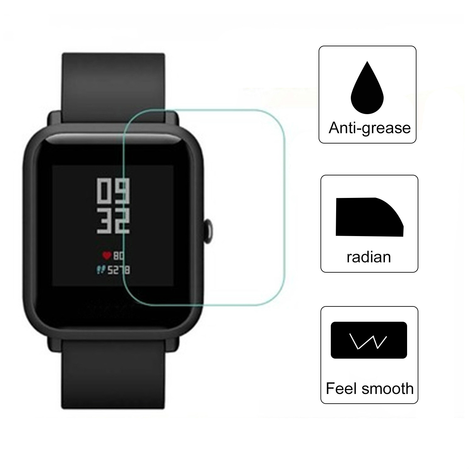 Protector-Film-Cover Smart-Watch-Accessories Huami Amazfit Xiaomi HD TPU 1pcs for Bip