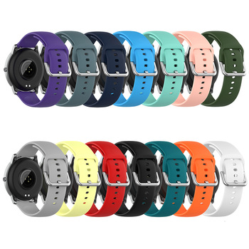 20mm 22mm Silicone Strap for Samsung Galaxy Watch 42m 46mm Watch 3 41mm 45mm Band Active 2 Gear S2 S3 GT 2 Bracelet Watchband image