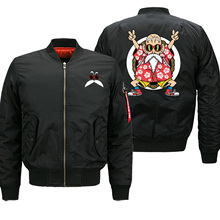 Anime Z 폭격기 재킷 남자 마스터 Roshi 재미 있은 인쇄 남자 야구 유니폼 가을 일본 Streetwear 오토바이 경주 코트
