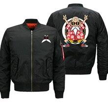 Dragon Ball Z Bomber pour homme, veste Master Roshi avec imprimé amusant, uniforme de Baseball dautomne japonais, Streetwear, pour la course de moto