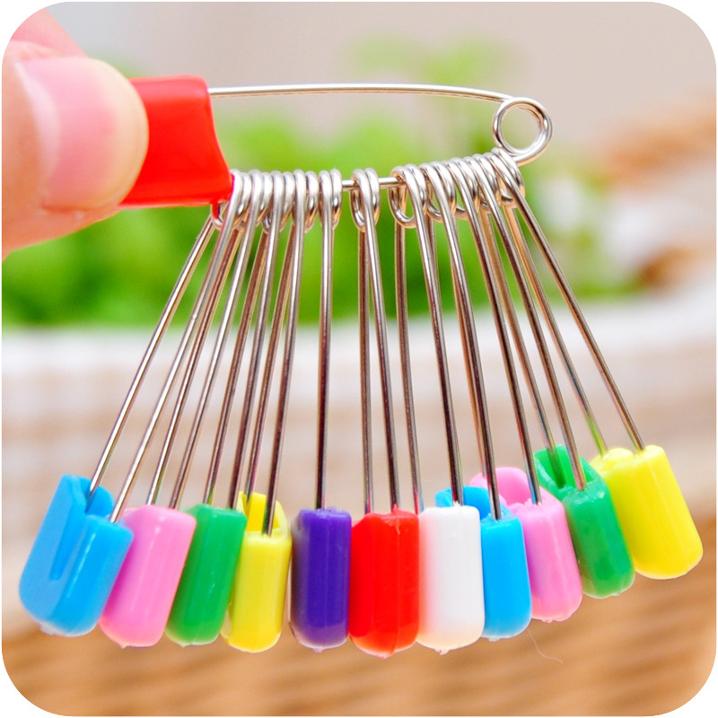 100PCS Black Plastic Safety Pins 1 Clothing Tag Pins Bead Needle Pins Trimming Fastening Safety Locking DIY Home Accessories For Personal Adornment