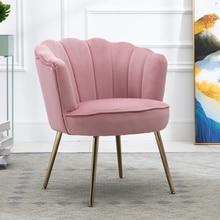 Chair-Light Living-Room Modern Sofa Small Shell Fabric Balcony Bedroom Flat American-Style