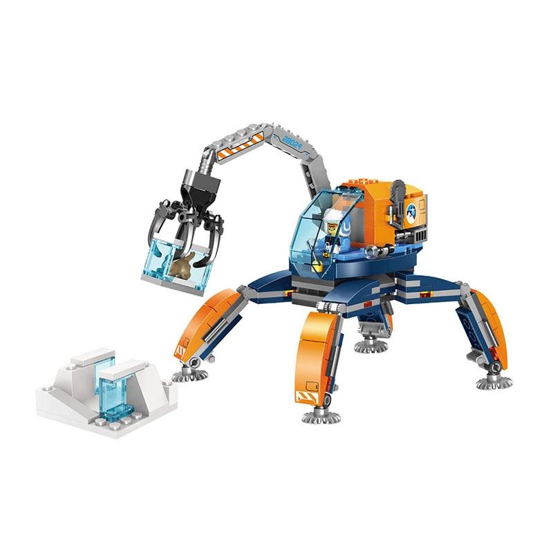 214pcs Building Blocks Bricks Set Compatible Lepining City Arcti Ice Crawler Toys for Boys Girls Children Model Gift DIY