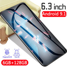 P35 Smart Telefon Globale Version HD 6,3 Zoll 4800mAh Batterie Telefon Touch Screen 6G 128GB Android 9,1 4G Netzwerk Handys