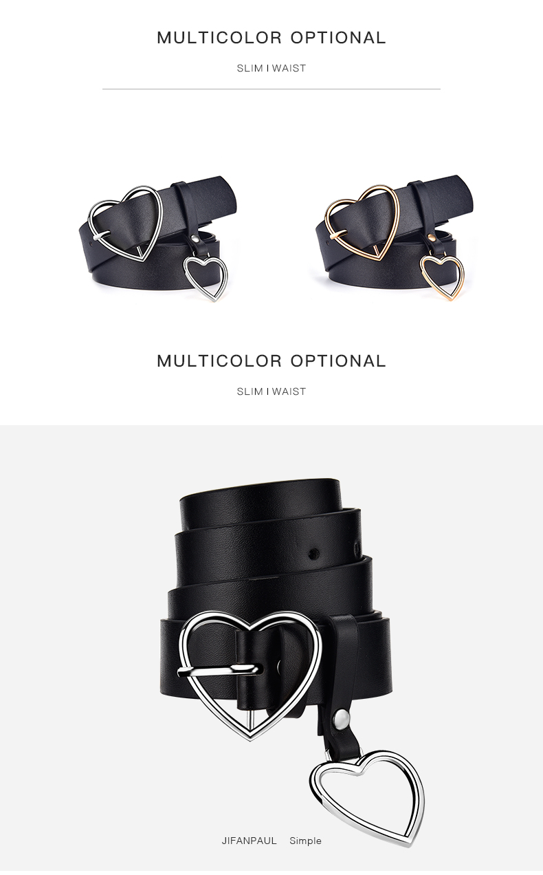 H9b30b6ea241e4a769274b99d9cafc02dT - JIFANPAUL New sweetheart buckle with adjustable ladies luxury brand cute Heart-shaped thin belt high quality punk fashion belts